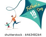 happy fathers day flyer  banner ... | Shutterstock .eps vector #646348264