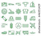 transportation icons set. set... | Shutterstock .eps vector #646351429