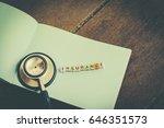 risk management concept word... | Shutterstock . vector #646351573