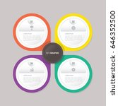 infographic template with 4... | Shutterstock .eps vector #646352500
