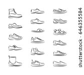 male shoes line icon. isolated... | Shutterstock .eps vector #646355584