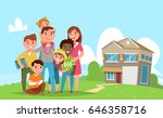 big international family with... | Shutterstock .eps vector #646358716