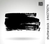black brush stroke. grunge... | Shutterstock .eps vector #646370074
