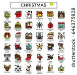 christmas icon fill with color...
