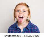 happy redhead little girl in... | Shutterstock . vector #646378429