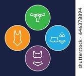 bikini icons set. set of 4...   Shutterstock .eps vector #646378894