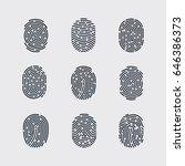 types of fingerprint patterns...   Shutterstock .eps vector #646386373