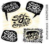 hand drawn comic speech bubbles ... | Shutterstock .eps vector #646390288