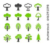 tree icon | Shutterstock .eps vector #646391098