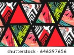 hand drawn vector abstract... | Shutterstock .eps vector #646397656