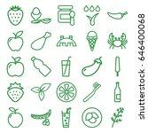 fresh icons set. set of 25... | Shutterstock .eps vector #646400068