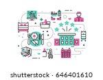 hotel service   facilities line ...   Shutterstock .eps vector #646401610