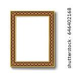 vintage gold picture frame | Shutterstock .eps vector #646402168