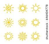 set of hand drawn vector... | Shutterstock .eps vector #646404778