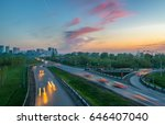 evening city  the road with cars | Shutterstock . vector #646407040