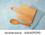 kitchen background with cutting ... | Shutterstock . vector #646409590