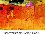 colorful ink splash on cotton... | Shutterstock . vector #646415200