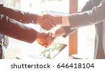 business men shaking hands | Shutterstock . vector #646418104