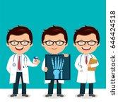 doctor at work | Shutterstock .eps vector #646424518