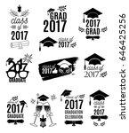 graduation class of 2017 labels ... | Shutterstock .eps vector #646425256