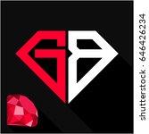 initials letter g   b in... | Shutterstock .eps vector #646426234