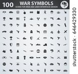 war symbols icons for web and... | Shutterstock .eps vector #646429330