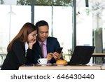 business women and business men ... | Shutterstock . vector #646430440