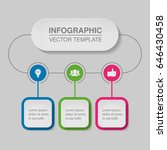 vector infographic template for ... | Shutterstock .eps vector #646430458