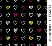seamless pattern design with... | Shutterstock .eps vector #646432783