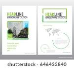 abstract vector modern flyers... | Shutterstock .eps vector #646432840