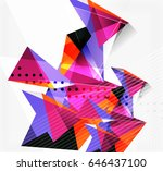 3d triangles and pyramids ... | Shutterstock . vector #646437100