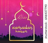 ramadan kareem beautiful... | Shutterstock .eps vector #646437790