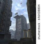future cityscape 3d illustration | Shutterstock . vector #646438804
