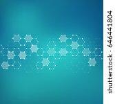 illustration hexagonal... | Shutterstock . vector #646441804