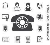 call center and customer... | Shutterstock .eps vector #646449076