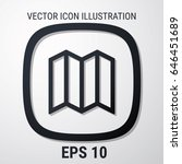 map icon vector. flat style for ...