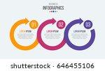 vector 3 steps timeline... | Shutterstock .eps vector #646455106