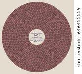 circular paving tile pattern... | Shutterstock .eps vector #646455559