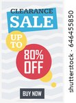 social media clearance sale... | Shutterstock .eps vector #646455850
