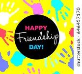 happy friendship day card or... | Shutterstock .eps vector #646457170