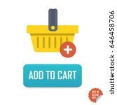add to cart vector button icon... | Shutterstock .eps vector #646458706