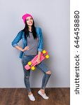 be a star  cute young stylish... | Shutterstock . vector #646458880