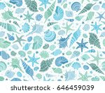 summer time horizontal banner.... | Shutterstock .eps vector #646459039