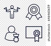 achievement icons set. set of 4 ... | Shutterstock .eps vector #646460659