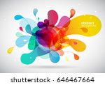 abstract colored background...   Shutterstock .eps vector #646467664