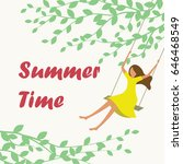 summer time swing | Shutterstock .eps vector #646468549