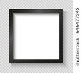 realistic picture frame... | Shutterstock .eps vector #646477243