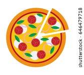 vector illustration of pizza on ... | Shutterstock .eps vector #646479718
