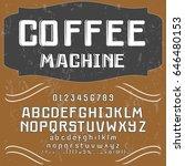 font typeface vector... | Shutterstock .eps vector #646480153
