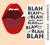 banner with the mouth and... | Shutterstock .eps vector #646484473